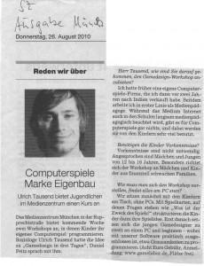 Ulrich Tausend Süddeutsche Zeitung Interview