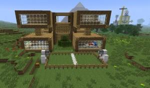 Minecraft Modulare Bauweise während MinecraftEdu Workshop