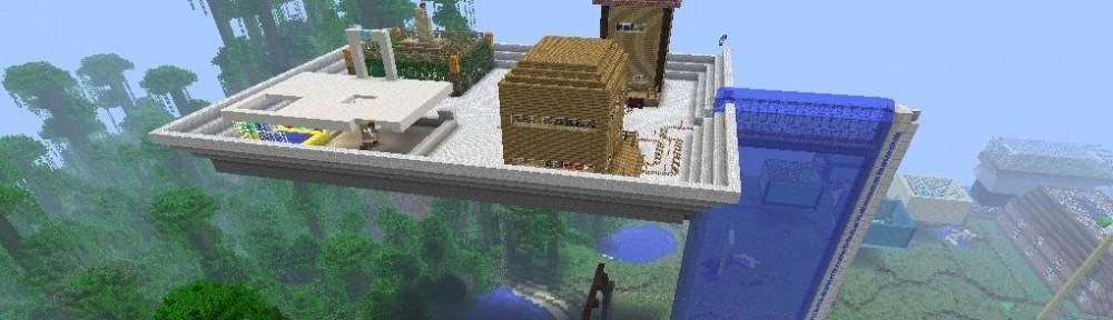 Ein Gebäude gebaut in einem MinecraftEdu Workshop in einer 7. im Gymnasium.
