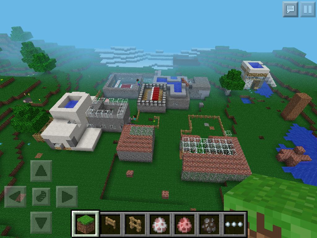 Eine Gruppe hat ein kleines Dorf gebaut