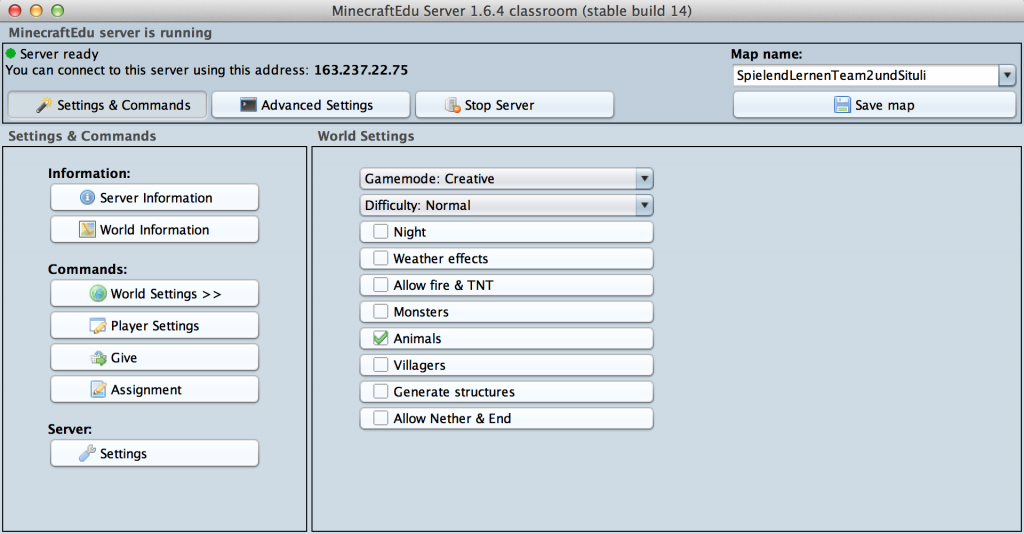 MCedu Server 2