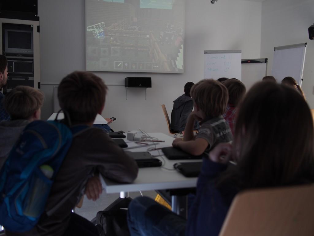 Minecraft Workshop bei den Münchner Wissenschaftstagen Präsentation