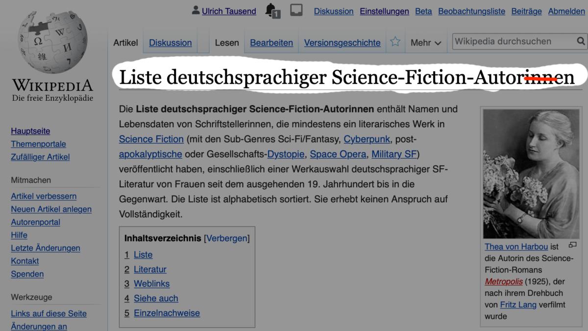#wikifueralle statt mitgemeint.